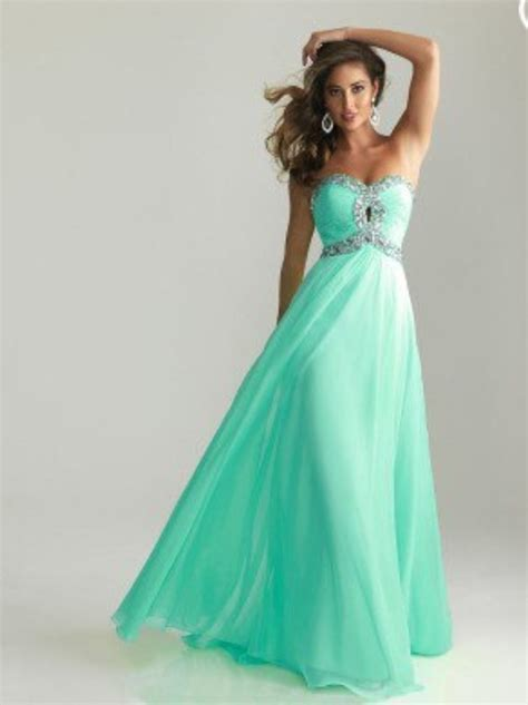 mint color prom dress prom