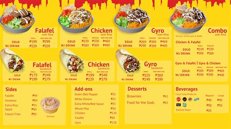 new year halal menu everything you need to about the halal guys in manila