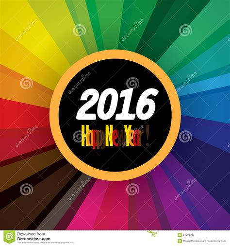 new year 2016 graphic design happy new year 2016 vector design icon on colorful