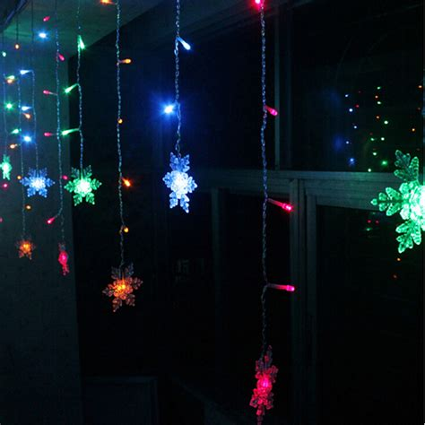 led curtain lights canada 3 8m led curtain snowflake string lights led fairy lights