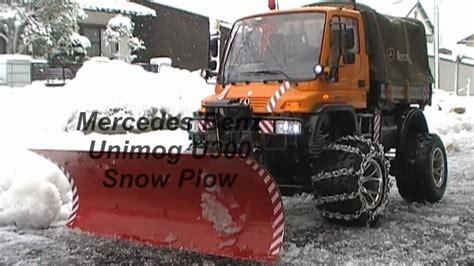rc snow plow unimog  youtube