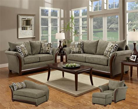 Loveseat And Chair Set Green Fabric Modern Sofa Loveseat Set W Optional Items