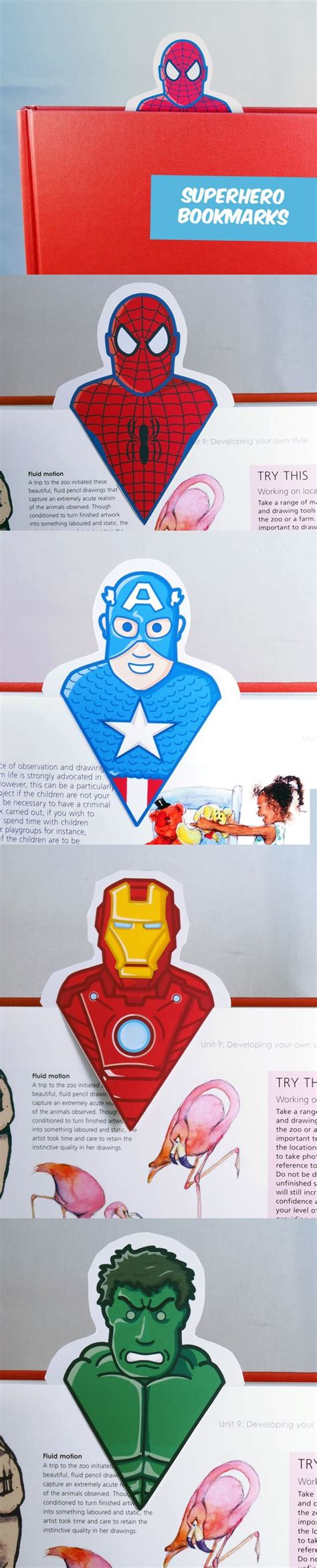 printable bookmarks superheroes create your own awesome superhero bookmarks great diy for