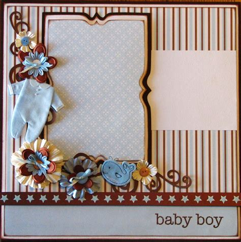scrapbook layout ideas baby christening baby boy 12x12 layout pre made scrapbook page