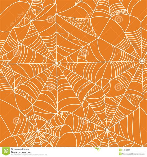Orange Pattern Web | halloween spider web seamless pattern stock vector