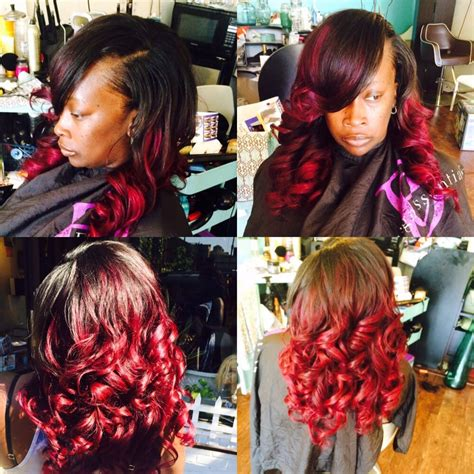 show mi styles of dior weave full weave minimal leave out custom color hair provided by