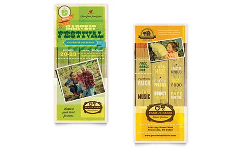 Rack Card Dimensions by Harvest Festival Rack Card Template Design
