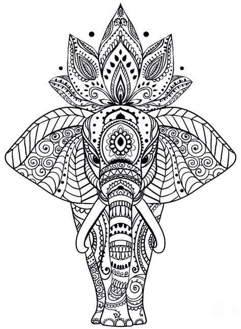 elephant mandala coloring pages printable elephant mandala coloring pages coloring pages
