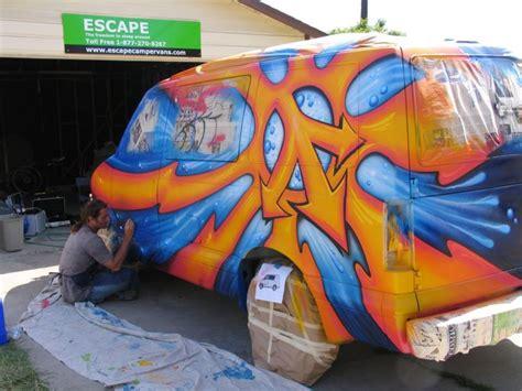 spray painting vans cer graffiti with montana spray paint drew