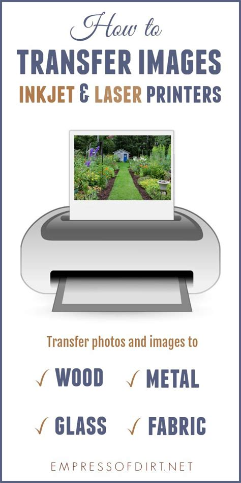 How To Transfer Laser Printer Image To Wood