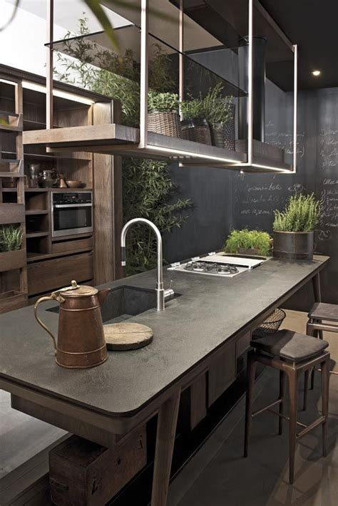 Délicieux Plan De Cuisine Avec Ilot Central #8: cuisine-ilot-central-plante-verte.jpg