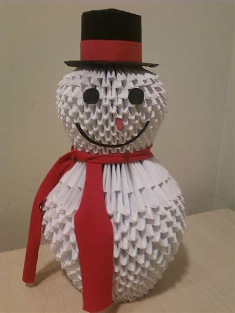 3d Origami Snowman - snowman jpg album tamorigami168 3d origami