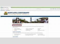 Kenyatta University (KU) student portal: Online Course ... Kenyatta University Student Portal Login