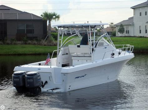 used proline walkaround boats for sale 1999 used pro line 2950 walkaround fishing boat for sale