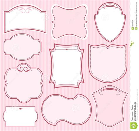 what is a frame set of pink frames stock images image 18739924