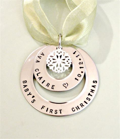 baby s first christmas personalized hand by foreverheartprints