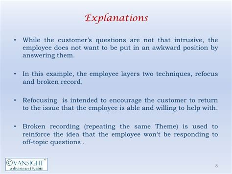 Inappropriate Or Question 2 When A Customer Asks Inappropriate Questions