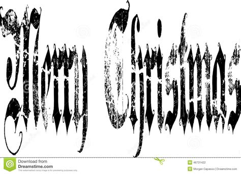 merry christmas gothic words stock vector image