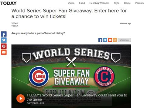 World Series Car Giveaway - the today world series super fan giveaway sweepstakes