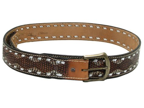 80 s vintage belt 80s cant read label mens shaded brown