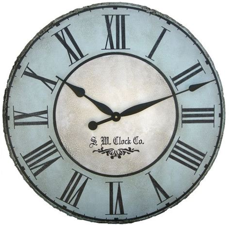 rustic crackle face oversize wall clock transitional north haven gallery 30 oversized wall clock that can be