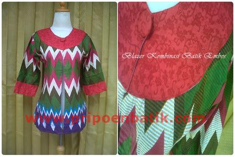 Sarimbit Blazer Avika Gamis Batik Pekalongan blazer kombinasi batik embos2 pripoen batik pekalongan