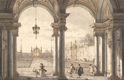 view   baroque colonnade  canaletto