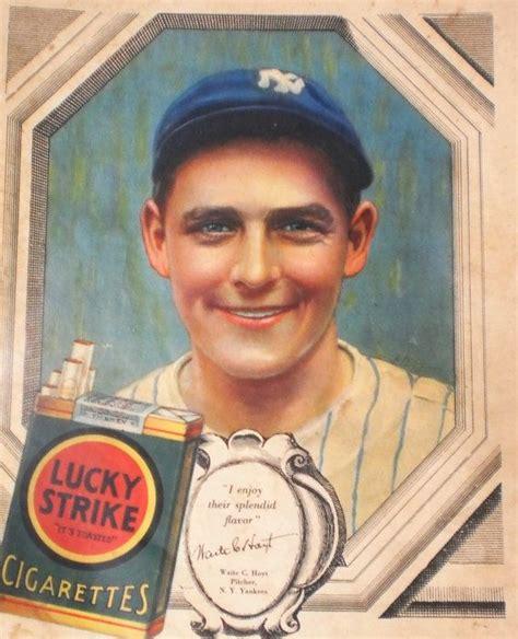 Lucky Strike Gift Card - waite hoyt ny yankee ad baseball star lucky strike cigarette advertisement 1920s