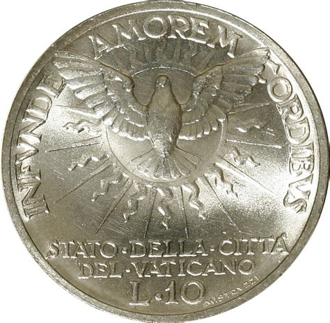 coin sede 10 lire sede vacante vatican city numista