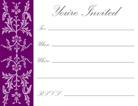 invitation printable templates birthday free invitation templates card