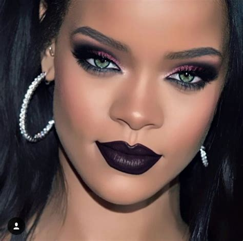 rihanna eye color best 25 rihanna makeup ideas on plum lipstick
