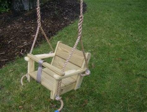 wooden baby swing plans toddler swing and rope