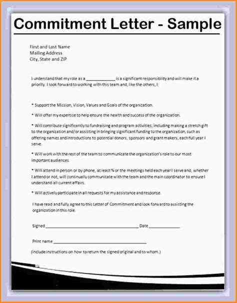 Commitment Letter Mortgage Loan 10 Letter Of Commitment Mac Resume Template