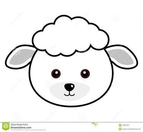 best photos of lamb face template sheep clip art