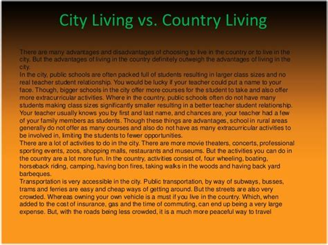 City Vs Country Essay by Comparison Contrast Essay City Vs Country