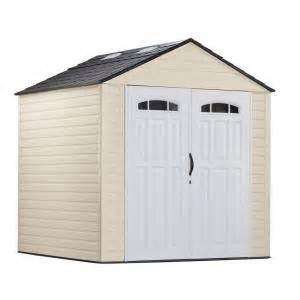 rubbermaid 7 ft x 7 ft plastic storage shed
