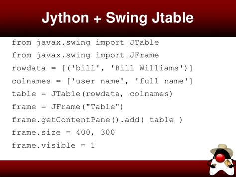 jython swing java virtual machine quantas linguas fala a jvm2