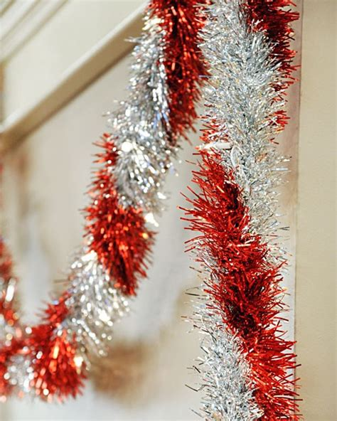 christmas tree tinsel drape 5 ways to decorate with tinsel
