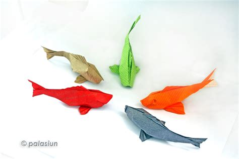 origami fish koi by sipho mabona