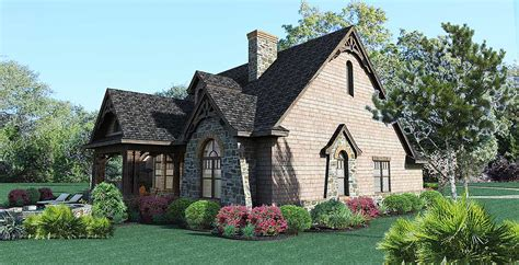stone cottage home plans architectural designs
