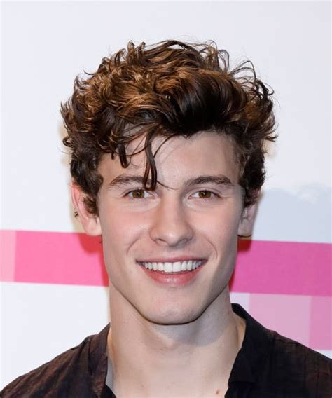 que haircut shawn mendes short wavy casual hairstyle medium brunette