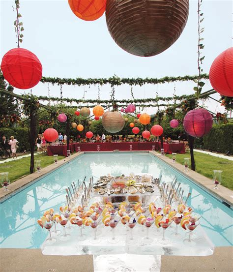 Backyard Pool Wedding Ideas All About Color Finding Your Wedding Color Palette Bridalguide