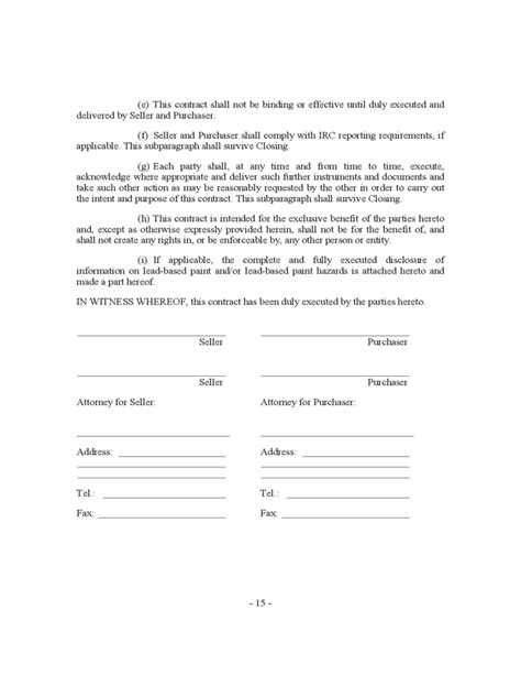 Contract House by House Sale Contract Form New York Free
