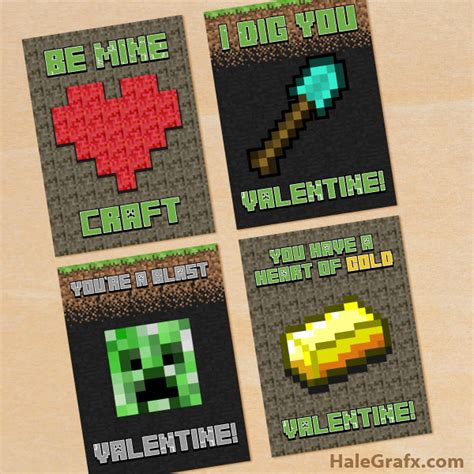 Where Can You Get Minecraft Gift Cards - free printable minecraft valentines