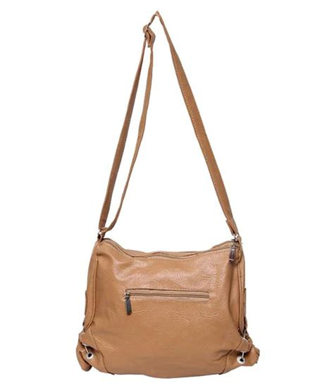 Faux Leather Slingbag beige sling bags bags more