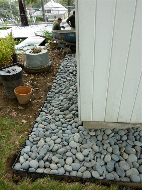 gravel around house stone 171 mod remod