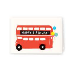 molly meg happy birthday london bus card stationery