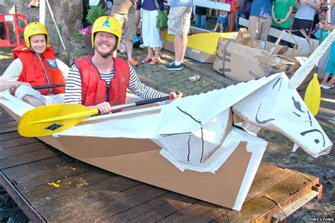 cardboard boat race linlithgow bbc in pictures linlithgow canal fun day