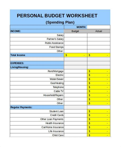 Personal Budget Template Doliquid Simple Personal Budget Template Excel
