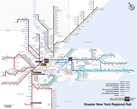 map  nyc commuter rail stations lines